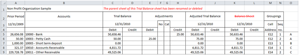 Excelfsm. If A Financial Report Is Deleted From The Workbook It Will Be Indicated In Trial Balance Worksheet As Follow. Worksheet. Adjusted Trial Balance Worksheet At Mspartners.co